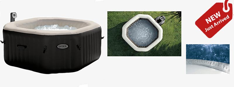 pure spa octagonal hot tub with and with out lid and remote control